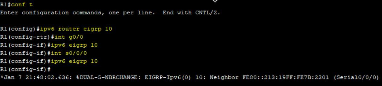 راه اندازی EIGRP برای IPv6 در اینترفیس سریال روترهای سیسکو
