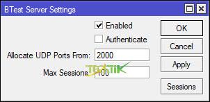 BTest Server server