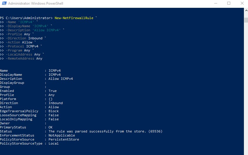 Powershell-Rule-ICMP