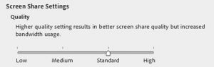 کیفیت صفحه نمایش در ادوبی کانکت