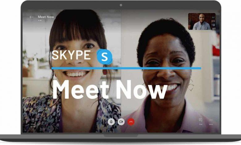 تصویر از با استفاده از Meet Now در Skype یک جلسه ویدئویی برگزار کنید